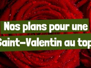 Nos plans pour une Saint-Valentin au top