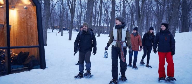 On a testé la randonnée en raquettes du Mont-Royal