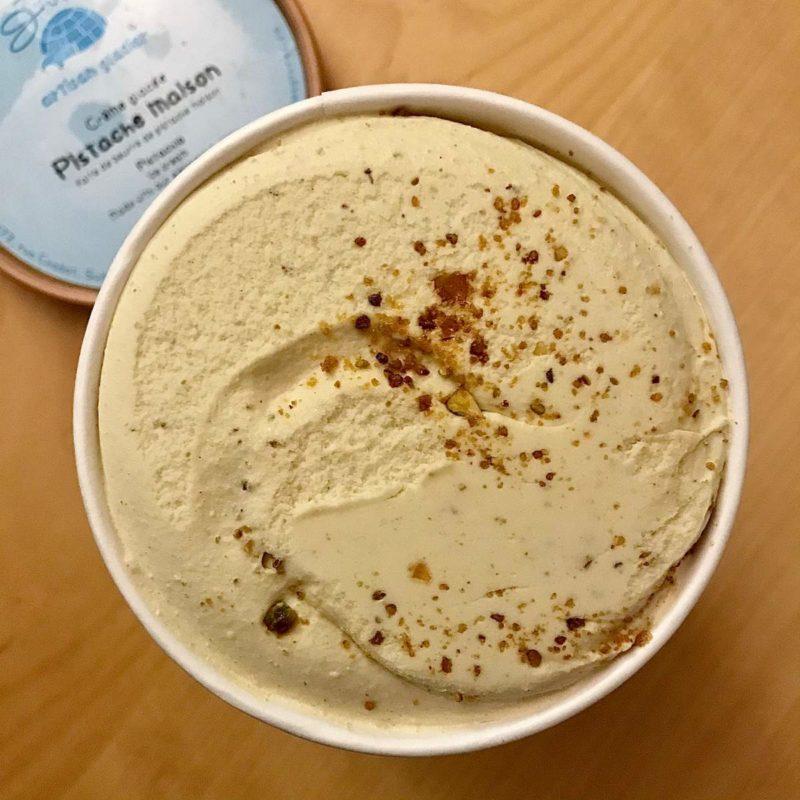 Crème glacée parfum Pistache maison